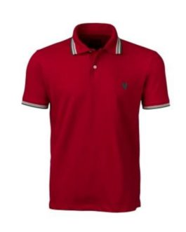 Camisa Polo Masculina Made in Mato com Filete Vermelha