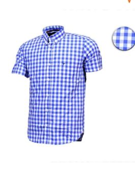 CAMISA ALL HUNTER MC XADREZ MEANT AZUL/ BRANCA