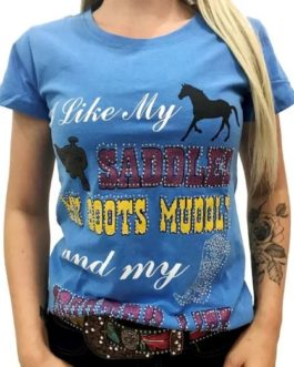 BLUSA MISS COUNTRY  LIFE COUNTRY AZUL 320
