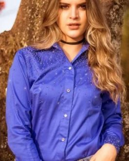 CAMISETE MISS COUNTRY WYOMING AZUL ROYAL 386